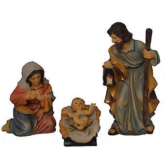 3-piece Nativity figurines. Set polyresin Nativity scene figures Holy Family 15 cm