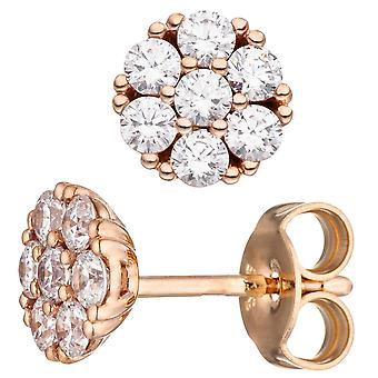 Earrings approximately 333 gold rose gold 14 cubic zirconia earrings rose gold earrings