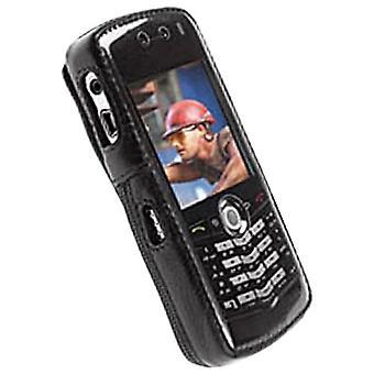 Krusell-klassieke Multidapt lederen draagtas voor BlackBerry Pearl 8100C, 8100G, 8100V-zwart
