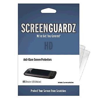 5 Pack -BodyGuardz - ScreenGuardz HD Anti Glare Screen Protector for HTC Desire