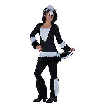 Stinky Stinktier Kostüm Kapuzentunika Tierkostüm für Damen