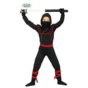 Guirca Kostüm Ninja Samuray Warrior Fighter Çocuklar Carnival için
