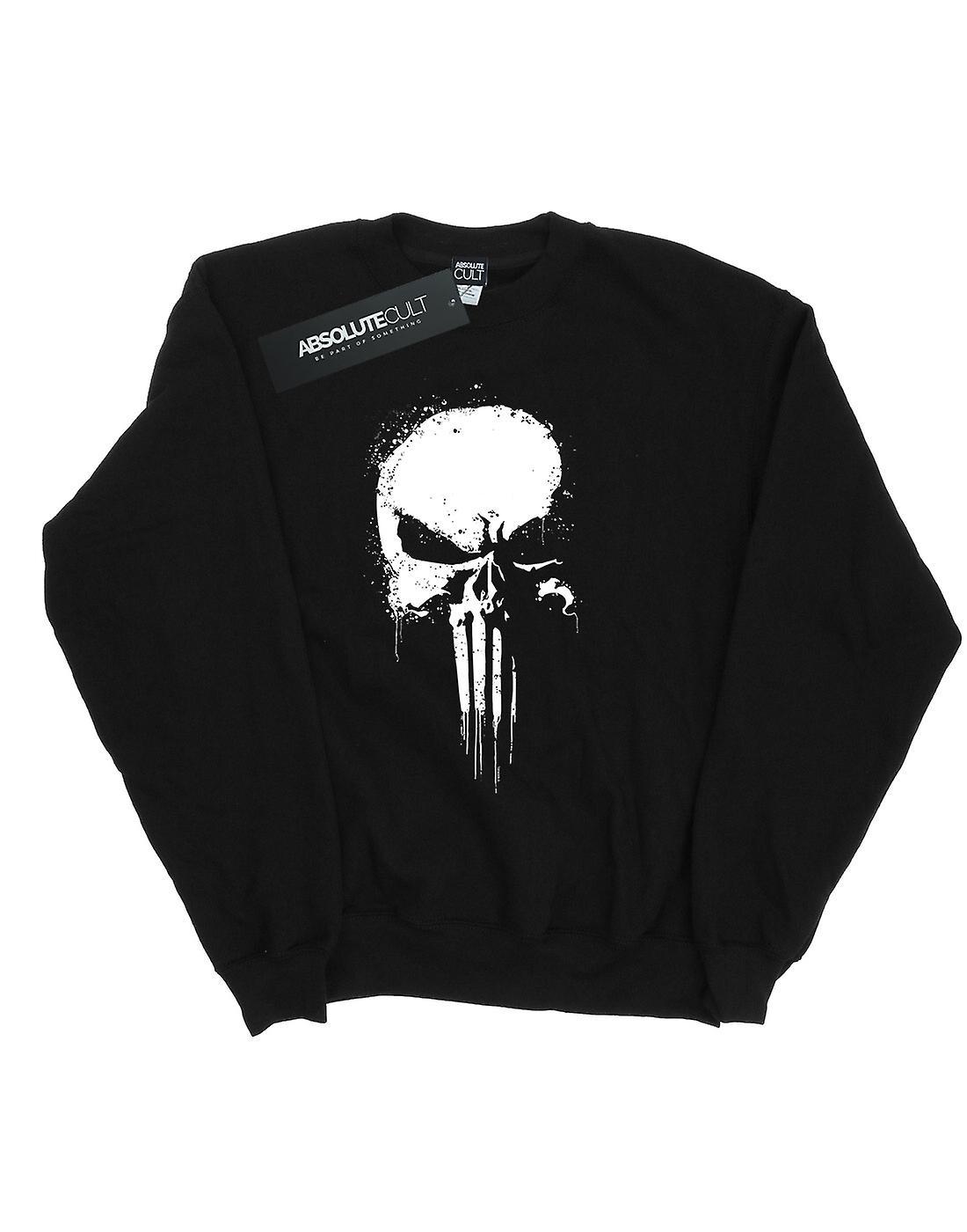 Marvel Girls The Punisher Spray Skull Sweatshirt