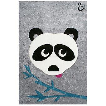 Grey Panda Bedroom carpet 120x180cm