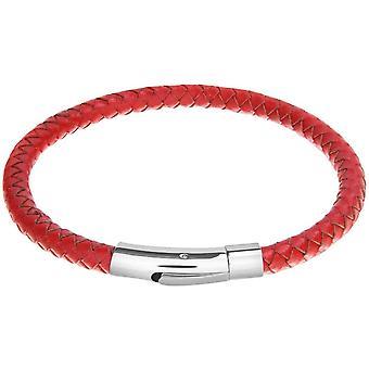 David Van Hagen lederen armband - rood