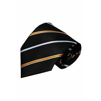 Zwarte zijden stropdas Figline 01