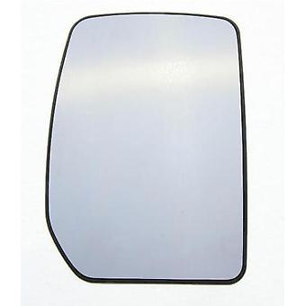 Höger spegel glas (uppvärmd) & Hållare för Ford TRANSIT flatbädd 2000-2014