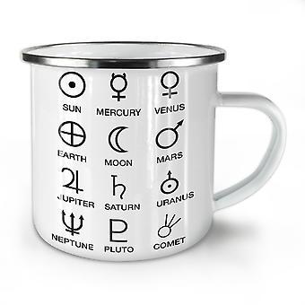 Astronomy Moon Symbols NEW WhiteTea Coffee Enamel Mug10 oz | Wellcoda