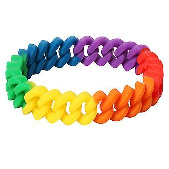 TRIXES Rainbow Braided Bracelet