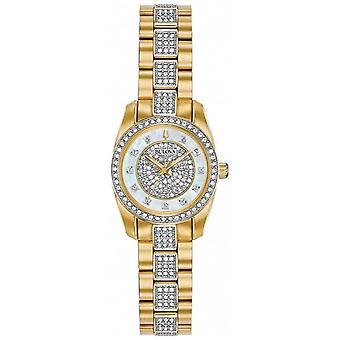 Bulova Women's Two Tone Crystal Set Bracelet Dial 98L241 Watch