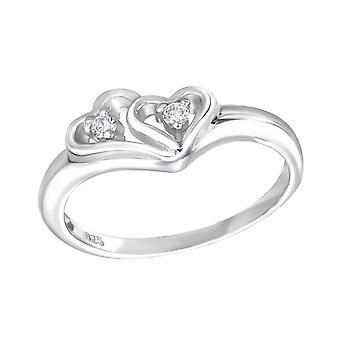 Herzen - jeweled 925 Sterling Silber Ringe - W15061X