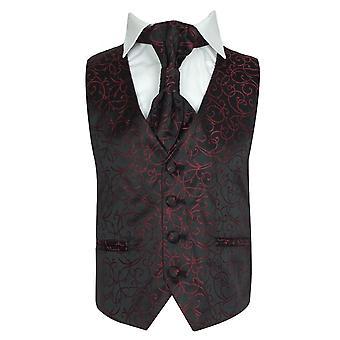 Мальчики галстук и жилет - красный
