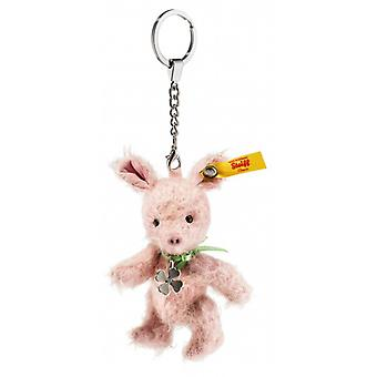 Steiff key chain small pig 10 cm