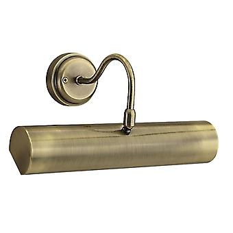 Antique Brass Adjustable Picture Light - Searchlight 869AB