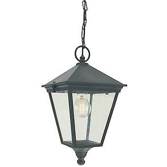 Lanterna de exterior da cadeia Turim - Elstead Iluminação T8 preto