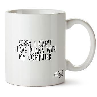 Hippowarehouse жаль я не могу есть планы с моего компьютера напечатать Кубка керамическая кружка 10oz