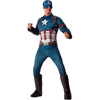Yetişkinler için Kaptan Amerika Standart Kostüm