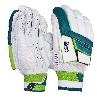 Kookaburra 2019 Kahuna 3.0 Cricket battuta guanti bianco/verde