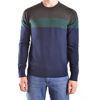 Michael Kors Ezbc063030 Men's Blue Wool Sweater