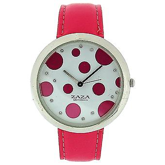 Zaza London Pink PU Strap Ladies & Pink Spotty Dial Fashion Watch LLB850