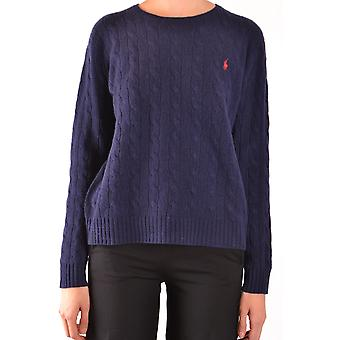 Ralph Lauren Ezbc037185 Women's Blue Wool Sweater