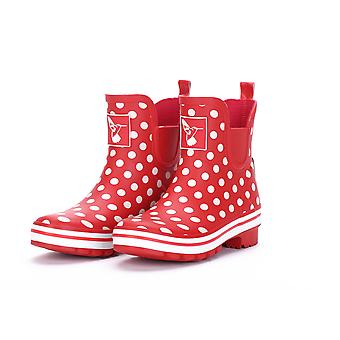 Womens Ankle Wellies - Polka Meadow - Evercreatures