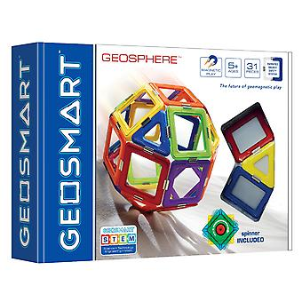 GeoSmart Geosphere Set  With Spinner Magnetic Play 31 PCs