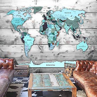 Fototapete - World Map: Blue Continents