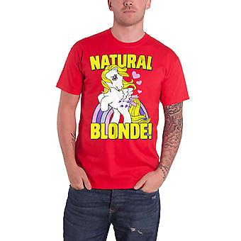 My Little Pony T Shirt Natural Blonde vintage retro logo new Official Mens