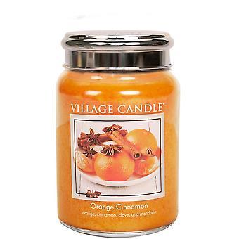 Village Candle Premium 26oz Scented Candle Jar Orange Cinnamon