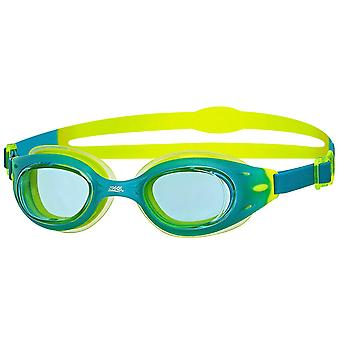 Zoggs Swimming Goggles Sonic Air Junior in Green/Lime/Clear - 6-14 ans