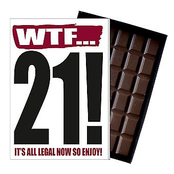 Funny 21st Birthday Gift Rude Naughty Present for Him or Her 85g Chocolate Card IYF112