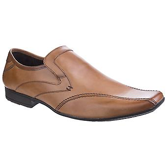 Base London Mens Sphere Excel Waxy Slip op Loafer Shoe Tan