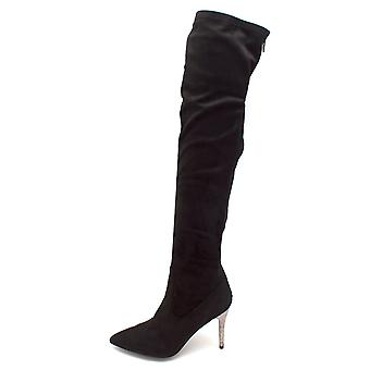 Nina Womens Rocklyn Suede Pointed Toe Knee High Fashion Boots