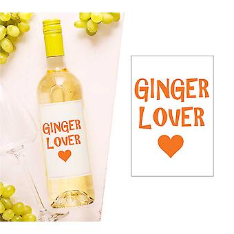 Ginger Lover sticla de vin Label