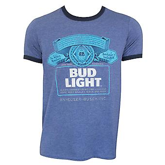 Bud Light Men's Heather Blue Ringer T-Shirt