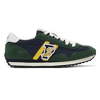 Ralph Lauren Train 90 Mens Green / Navy Trainers