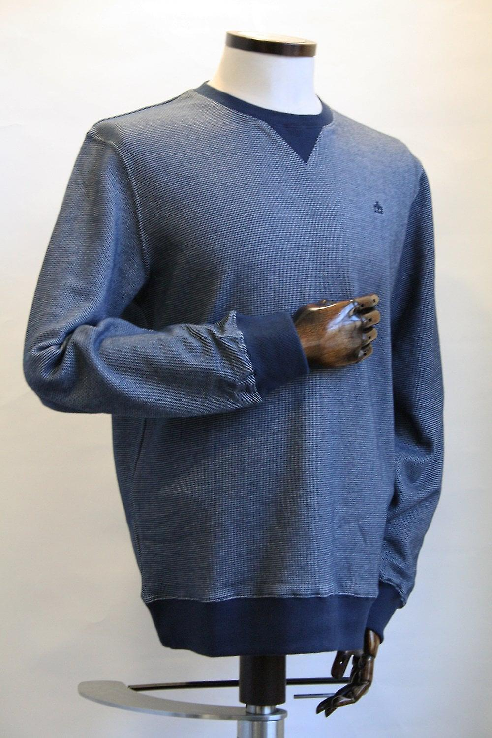 Merc London Shelton Navy & White Pattern Jumper