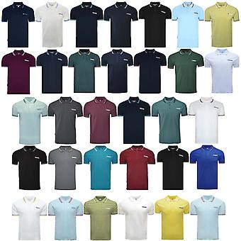 Lambretta Mens Target Twin Tipped Retro Pique Polo Shirt