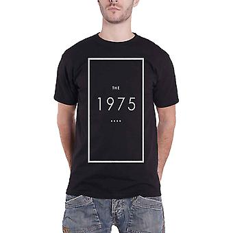 The 1975 T Shirt Original Band Logo Outline Official Mens New Black