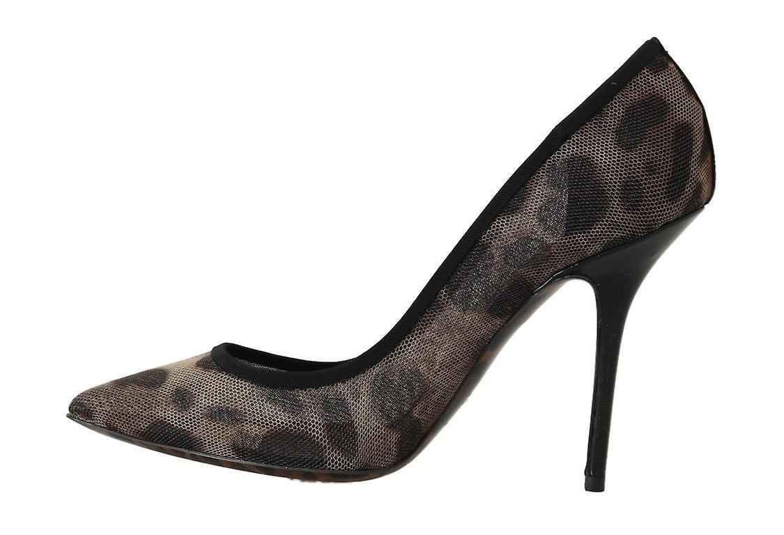 Brown Leopard Transparent Tulle Pumps