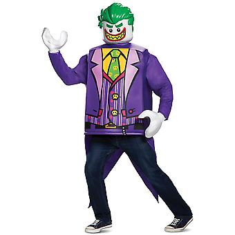 Joker Lego Classic DC The Batman Movie Super Villain Adult Mens Costume L-XL
