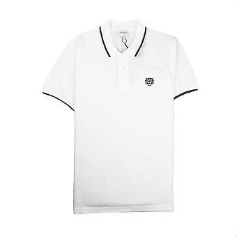 Kenzo Tiger Crest Polo Bianco/Nero
