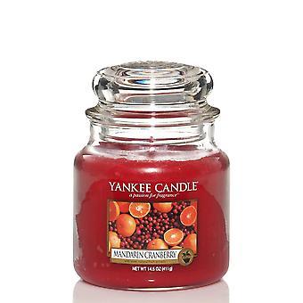 Vela Yankee Classic Médio Jar Mandarin Cranberry Candle 411g