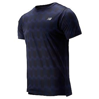 New Balance Mens 2019 Printed Accelerate SS T-Shirt