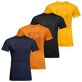 Jack Wolfskin Hombres Manga Corta Ligera 365 Camiseta