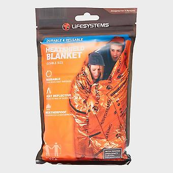 New Life Systems Heatshield Thermal Blanket Double Outdoors Camping Orange