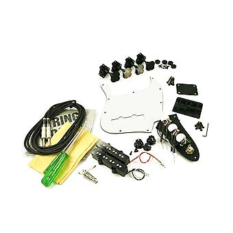 WD Music Replacement Jazz Bass Parts Kit Black
