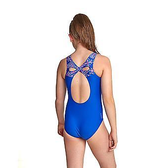 Zoggs verzaubert Infinity Girl's Ein Stück Badeanzug blau / Multi Eco Stoff