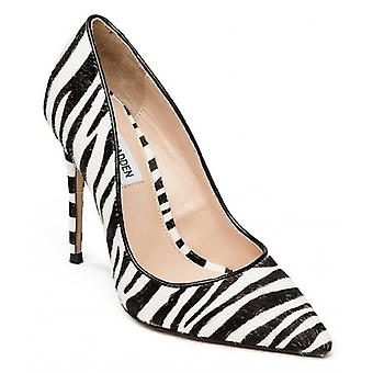 Steve Madden Daisie-l Ladies Pony Hair Court Shoes Zebra